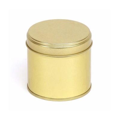 Plåtburk guld med lock 250 ml