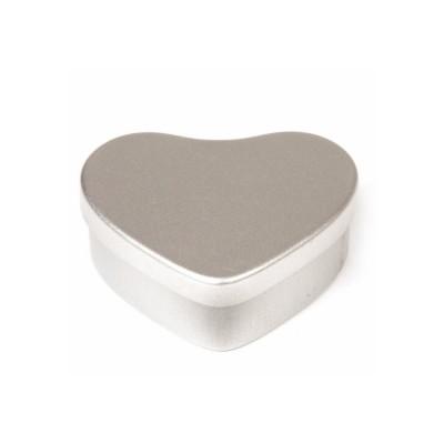 Fin hjärtformad burk i silverfärg